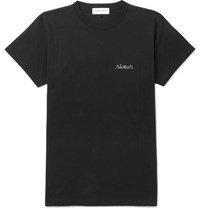 Maison Labiche Embroidered Cotton Jersey T Shirt Black