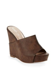 Charles By Charles David Alamo Leather Mules Oak
