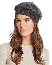 Bloomingdale's C By Angelina Cashmere Beret 100 Exclusive Charcoal