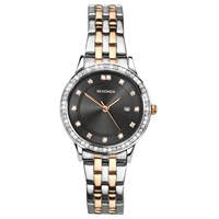 Sekonda Women's Date Two Tone Bracelet Strap Watch Silver Rose Gold