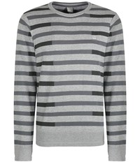 Bench Stagger Crew Neck Jumper Grey Marl