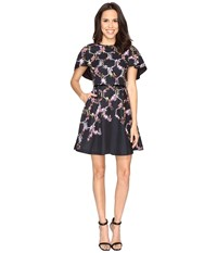 Ted Baker Vianna Lost Gardens Frill Sleeve Dress Black Women's Dress
