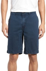 Billy Reid Clyde Cotton And Linen Shorts Carbon Blue