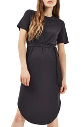Topshop Women's Ribbed Midi Dress