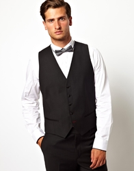 Red Eleven Slim Fit Tuxedo Vest Black