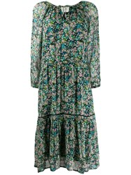 Cecilie Copenhagen Stine Floral Print Dress Blue