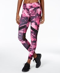 Ideology Printed Leggings Only At Macy's Molten Pink