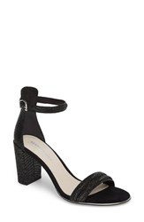 Kenneth Cole Women's New York 'Lex' Ankle Strap Sandal Pewter Leather