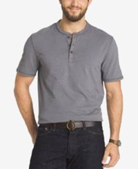 G.H. Bass And Co. Short Sleeve Henley T Shirt Grey Pewter Heather