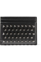 Christian Louboutin Kios Studded Leather Cardholder Black
