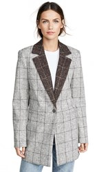 Laveer Colorblock Oversized Man Blazer Heathered Plaid Combo