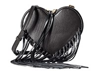 Rebecca Minkoff Heart Fringe Crossbody Black Cross Body Handbags
