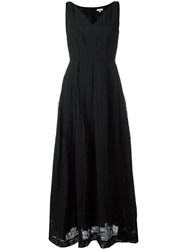 Bellerose V Neck Maxi Dress Black