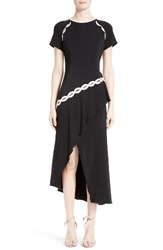 Jonathan Simkhai Women's Rope Applique Asymmetrical Dress