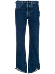 Ports 1961 Flared Slim Fit Jeans Blue