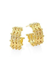 Temple St. Clair Vigna 18K Yellow Gold Hoop Earrings 0.45