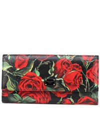 Dolce And Gabbana Printed Leather Wallet Red