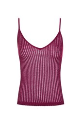 Topshop Strappy Camisole Top Plum