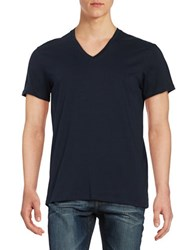 Ben Sherman V Neck Tee Navy Blue