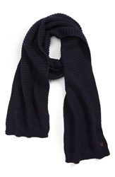 Ted Baker London Textured Knit Scarf Navy