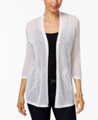Charter Club Pointelle Cardigan Only At Macy's Bright White