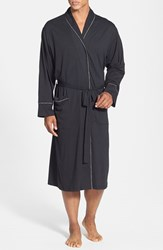 Men's Daniel Buchler Peruvian Pima Cotton Robe Black