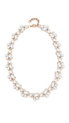 Stella Ruby Crystal Cluster Statement Necklace Antique Gold