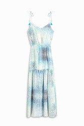 Athena Procopiou Women S Tiered Dress Boutique1 Blue