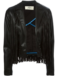 Urbancode Faux Leather Fringed Jacket