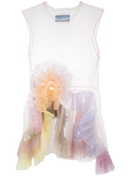 Viktor And Rolf Tulle Sheer Dress Nude And Neutrals