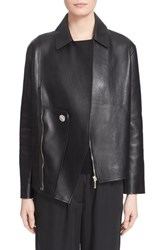 Women's Anthony Vaccarello Asymmetrical Leather Jacket