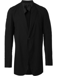 Rick Owens One Button Jacket Black