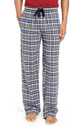 Nordstrom Men's Big And Tall Men's Shop Flannel Lounge Pants Blue Navy Grey Check