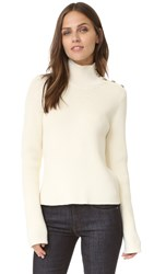 Red Valentino Turtleneck Sweater With Buttons Ivory