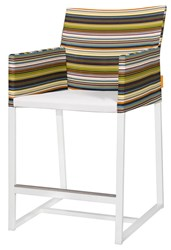 Mamagreen Stripe Counter Stool With Arms