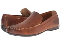 Frye Lewis Venetian Cognac Oiled Vintage Men's Slip On Shoes Brown