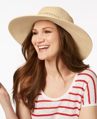 Nine West Packable Floppy Hat Sand Heather