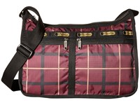Le Sport Sac Deluxe Everyday Bag Modern Plaid Cross Body Handbags Brown