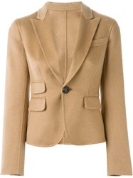 Dsquared2 Cropped Jacket Nude And Neutrals