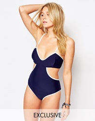 South Beach Cami Swimsuit Navy