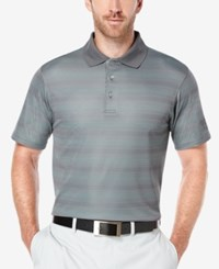 Pga Tour Men's Jacquard Argyle Print Golf Polo Shirt Asphalt