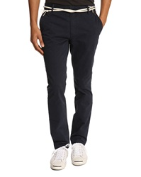 Eleven Paris Charie Navy Chinos With Cord Belt