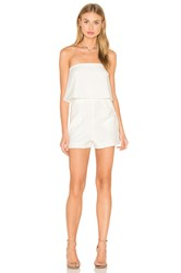 Lavish Alice Bandeau Cropped Romper White