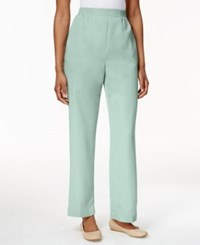 Alfred Dunner Petite Pull On Straight Leg Pants Mint