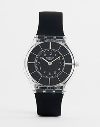 Swatch Sfk361 Core 5 Silicone Watch In Black 34Mm
