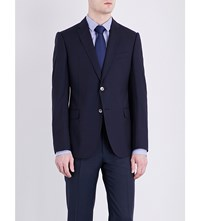 Armani Collezioni Tailored Fit Wool Jacket Navy