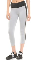 Rebecca Minkoff Rm Active Lizzy Leggings Light Grey Black