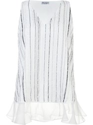 Brunello Cucinelli Striped Tank Top White
