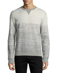 Billy Reid Gradient Cotton Sweatshirt Light Grey
