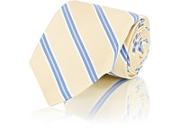 Fairfax Diagonal Striped Textured Silk Necktie Yellow